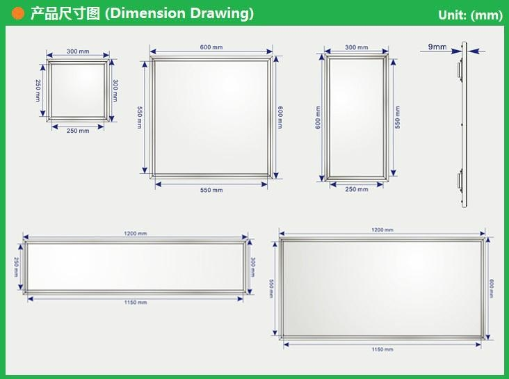 LED Panel Lighting 24W-30W 600*300mm 5
