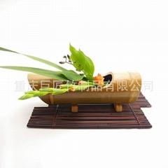 竹花插竹花瓶竹花盆竹摆饰竹装饰竹花架