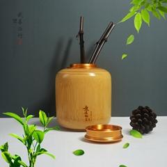 竹子茶葉罐竹茶倉竹茶葉筒竹茶盒密封罐