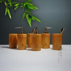 竹子沐浴瓶洗手液瓶牙刷杯竹子衛浴用品