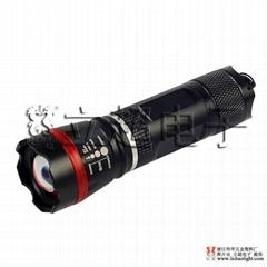 立超Q3-007伸縮調焦強光手電筒 攻擊頭