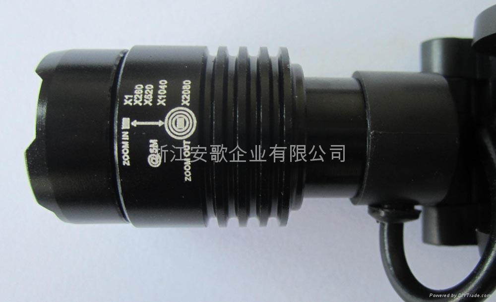 LICHAO立超 R2 LED伸缩调焦帽灯 钓鱼灯 3