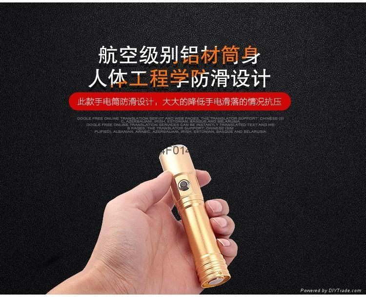 USB recharger flashlight