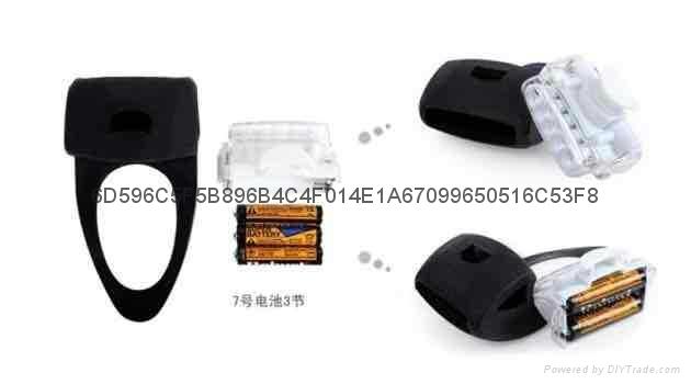 LC-6005#自行车硅胶灯 5LED+2LED青蛙灯 4