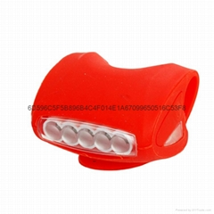 LC-6005#自行車硅膠燈 5LED+2LED青蛙燈