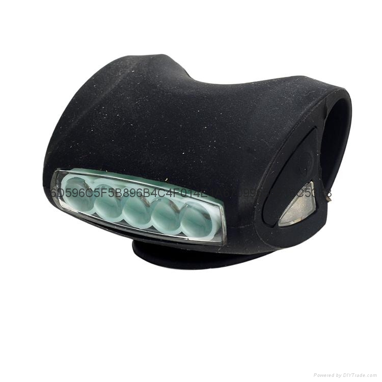 LC-6005#自行车硅胶灯 5LED+2LED青蛙灯 3