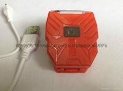 立超5LED 高亮USB充電帽燈 帽檐燈 夾帽燈釣魚燈