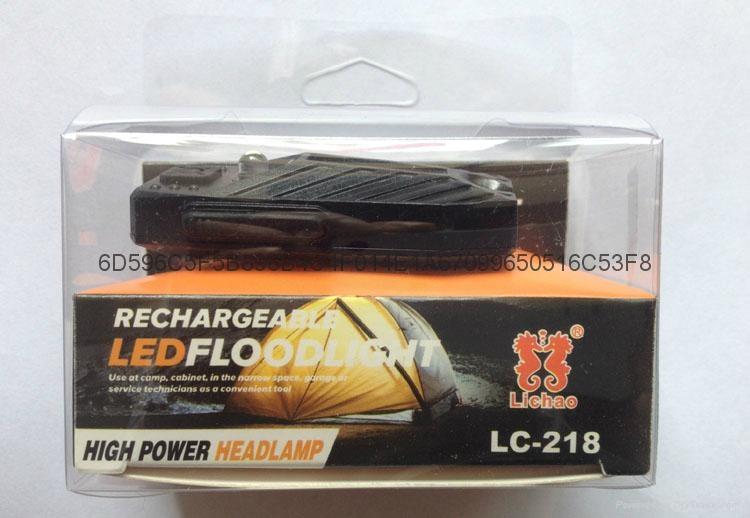 LICHAO COB USB rechargerable clip cap lamp LED floodlight headlamp 9