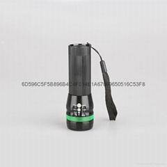 铝合金变焦式强光手电3W自行车灯户外迷你CREE手握式电筒