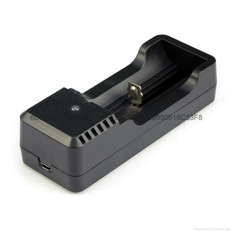 強光手電充電器 USB充電器   充 micro 5P 轉4.2V 18650充電器 2