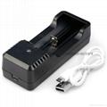 強光手電充電器 USB充電器   充 micro 5P 轉4.2V 18650充電器 1