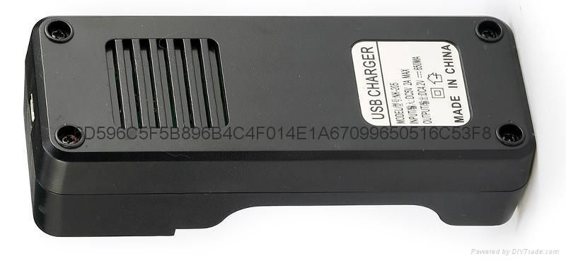 強光手電充電器 USB充電器   充 micro 5P 轉4.2V 18650充電器 3