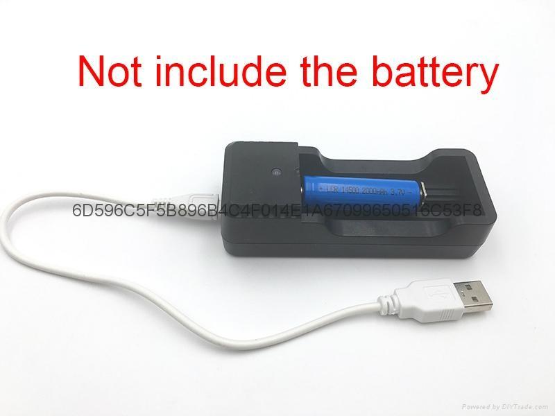 強光手電充電器 USB充電器   充 micro 5P 轉4.2V 18650充電器 10