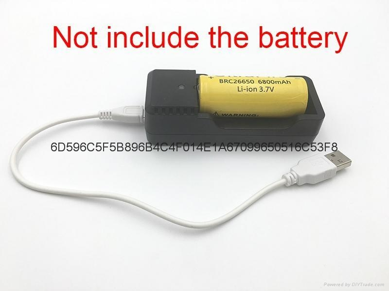 強光手電充電器 USB充電器   充 micro 5P 轉4.2V 18650充電器 11