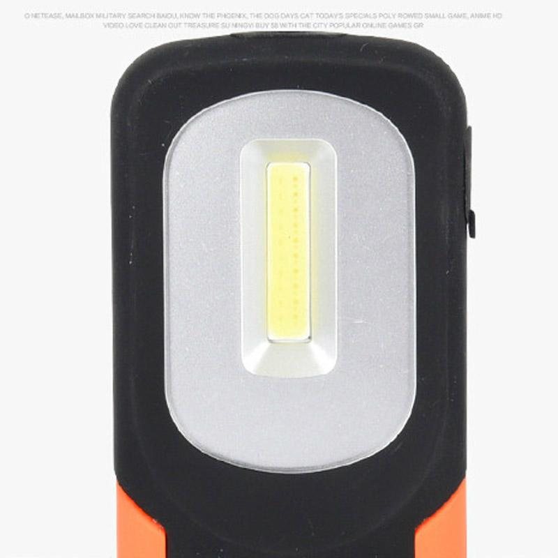 Portable COB LED Flashlight USB Rechargerable Magnetic Work Light Torch Lamp Red 4