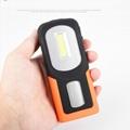 新款USB充電工作燈COB汽車維修燈應急手機充電車載磁鐵戶外車燈 7