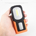 Portable COB LED Flashlight USB Rechargerable Magnetic Work Light Torch Lamp Red