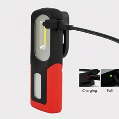 新款USB充電工作燈COB汽車維修燈應急手機充電車載磁鐵戶外車燈