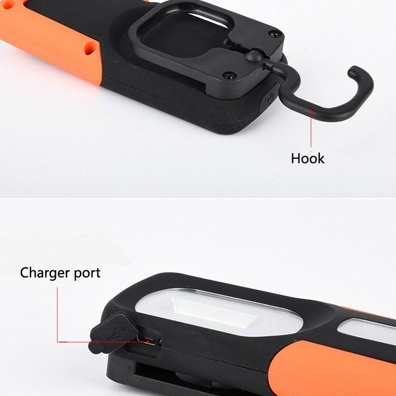 新款USB充電工作燈COB汽車維修燈應急手機充電車載磁鐵戶外車燈 6
