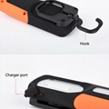 Portable COB LED Flashlight USB Rechargerable Magnetic Work Light Torch Lamp Red 6