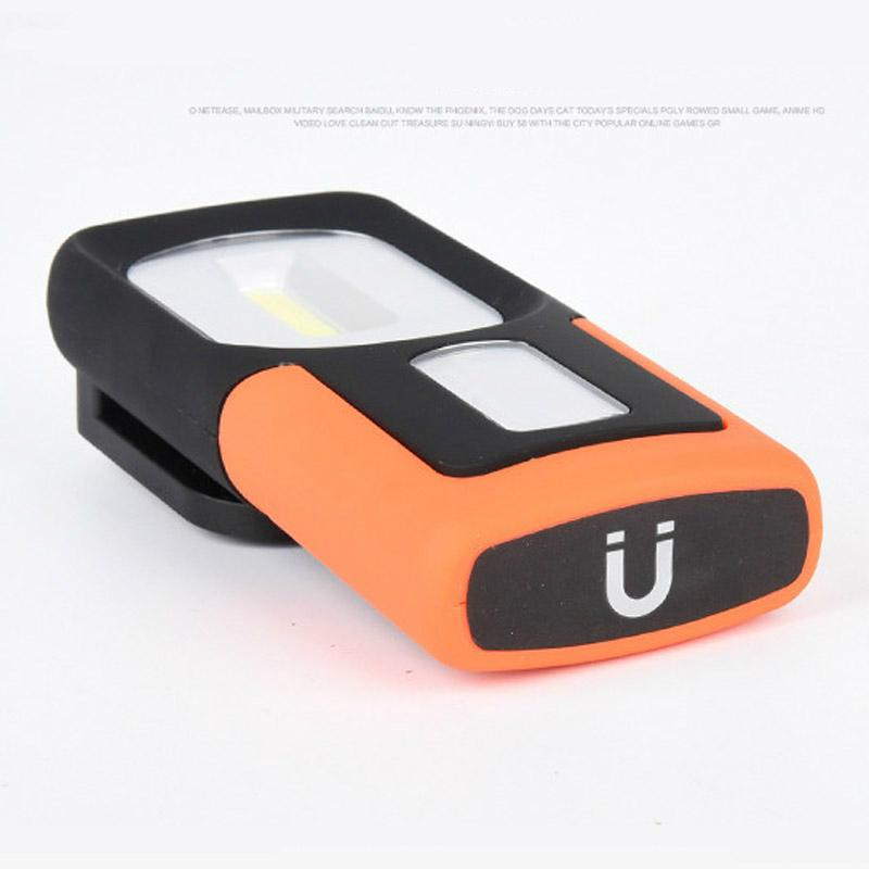 Portable COB LED Flashlight USB Rechargerable Magnetic Work Light Torch Lamp Red 5