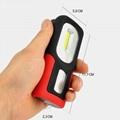 新款USB充電工作燈COB汽車維修燈應急手機充電車載磁鐵戶外車燈 2