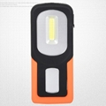 Portable COB LED Flashlight USB Rechargerable Magnetic Work Light Torch Lamp Red 3