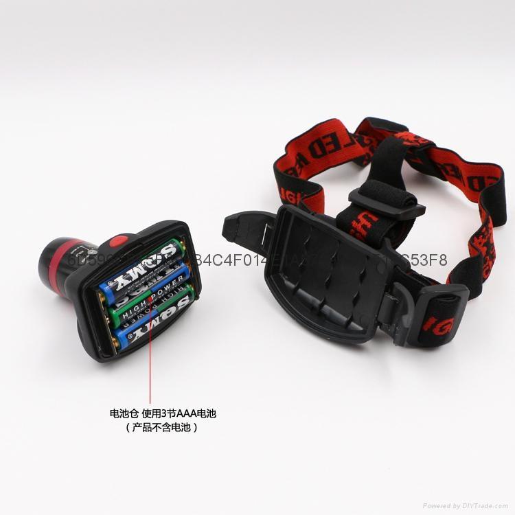 立超 戶外強光伸縮調焦頭燈 LED防水釣魚頭燈 礦燈 LC-009E頭燈 7