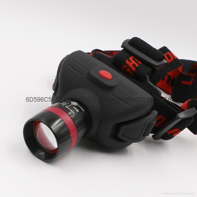 立超 戶外強光伸縮調焦頭燈 LED防水釣魚頭燈 礦燈 LC-009E頭燈 2