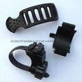 360 Degree Swivel Bicycle light Mount Holder Flashlight Holder Rubber Clips