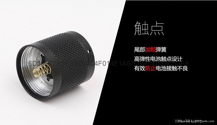 铝合金T6强光手电筒 CREE XML T6伸缩调焦LED铝合金手握式电筒 8