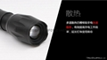 CREE XML T6 LED Zoomable Focus Flashlight Torch Lamp AAA/18650 Light