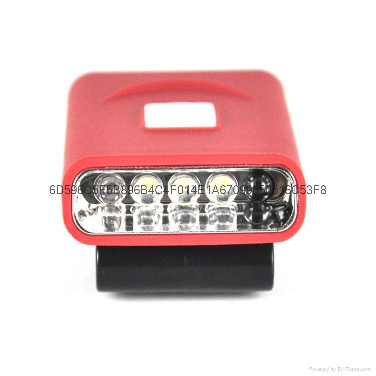 G017#3LED感應帽燈 USB充電帽夾燈 LED帽檐燈 7