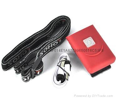 G017#3LED感應帽燈 USB充電帽夾燈 LED帽檐燈 4