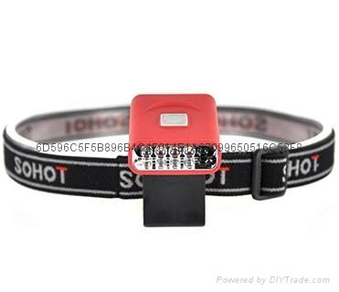 G017#3LED感应帽灯 USB充电帽夹灯 LED帽檐灯 2