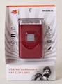 G016# USB Rechargeable LED Cap Light with Metal Clip,5led cap light 2