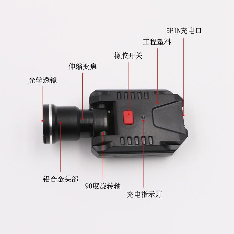 LICHAO 強光CREE XPE充電帽燈 USB帽檐燈 夾帽燈釣魚燈LC-9007 5