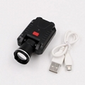 LICHAO LED Headlight USB rechargerable cap lamp LED headlamp for Fishing 9007#