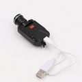 LICHAO 強光CREE XPE充電帽燈 USB帽檐燈 夾帽燈釣魚燈LC-9007 9
