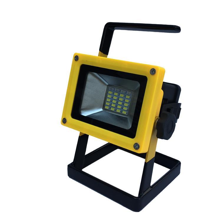 LED强光充电手提投光灯工作灯 应急泛光灯车载信号警示灯探照灯 11