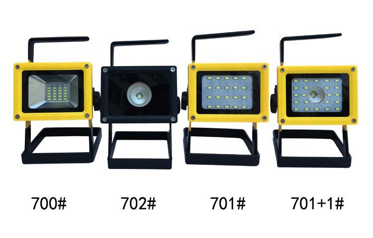 LED强光充电手提投光灯工作灯 应急泛光灯车载信号警示灯探照灯 1