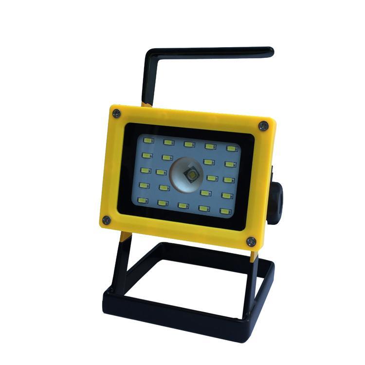 LED强光充电手提投光灯工作灯 应急泛光灯车载信号警示灯探照灯 2