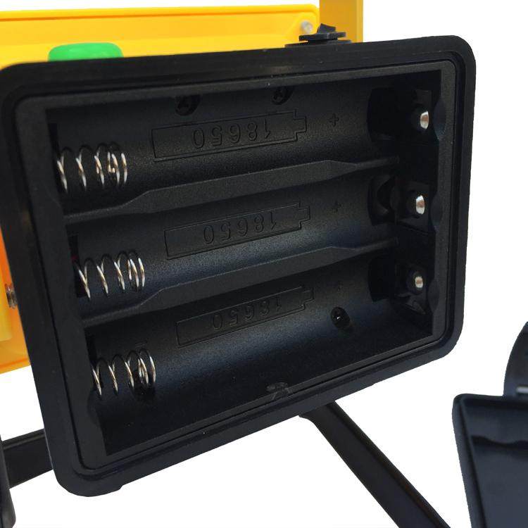 LED强光充电手提投光灯工作灯 应急泛光灯车载信号警示灯探照灯 8