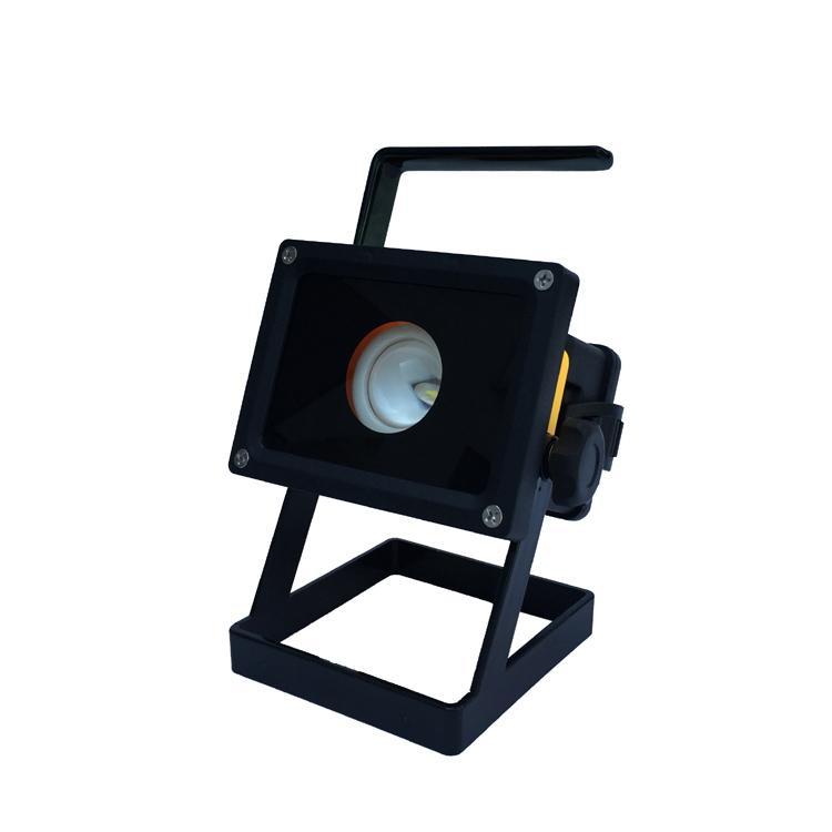 LED强光充电手提投光灯工作灯 应急泛光灯车载信号警示灯探照灯 12