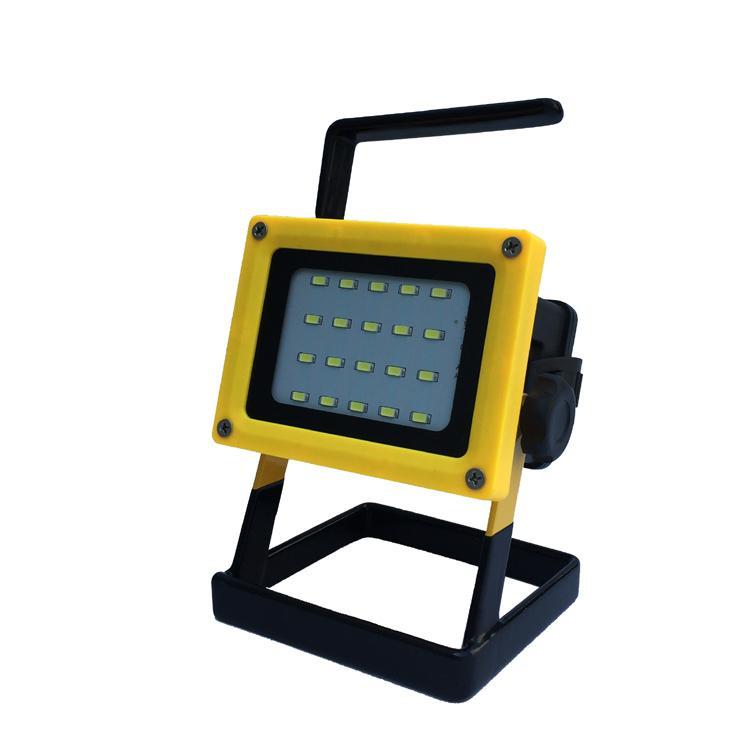 LED强光充电手提投光灯工作灯 应急泛光灯车载信号警示灯探照灯 13