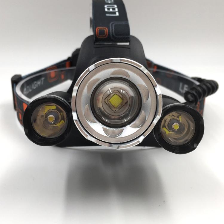 XML-T6 LED強光遠射頭燈 USB充電飛機頭燈戶外移動照明打獵釣魚RJ-3000# 2