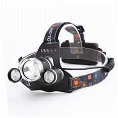 XML-T6 LED強光遠射頭燈 USB充電飛機頭燈戶外移動