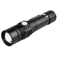 LED Flashlight USB Rechargeable Torch Portbale Flashlights Aluminum Zoom Light