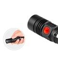 新款 LED強光遠射手電筒 USB充電迷你小手電筆夾 戶外照明騎行 5