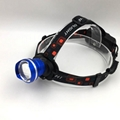 10W XML-T6 Aluminum Headlight 3 Modes 1000 Lumen Focus LED Rechargeable Headlamp 11